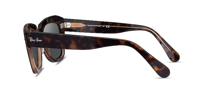 Ray-Ban State Street Havana On Transparent Brown Acetate Sunglass Frames from EyeBuyDirect
