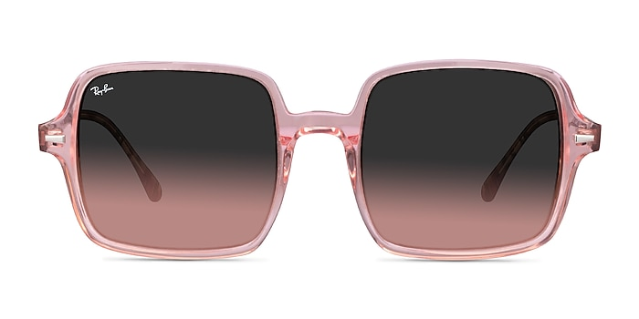 Ray-Ban Square II Transparent Pink Acetate Sunglass Frames from EyeBuyDirect