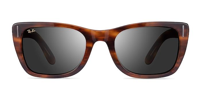 Ray-Ban Caribbean Striped Havana Acetate Sunglass Frames from EyeBuyDirect