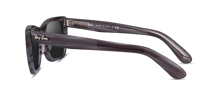 Ray-Ban Caribbean Striped Gray Acetate Sunglass Frames from EyeBuyDirect