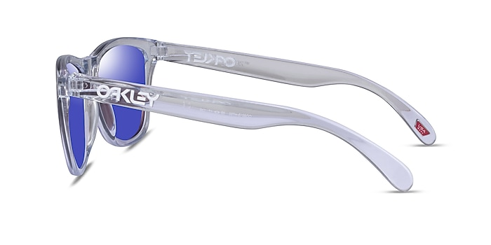 Oakley Frogskins Polished Clear Plastic Sunglass Frames from EyeBuyDirect