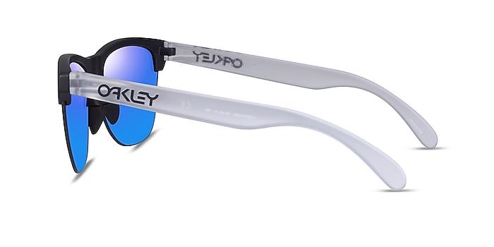 Oakley Frogskins Lite Matte Black Matte Clear Plastic Sunglass Frames from EyeBuyDirect