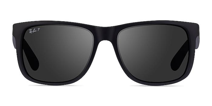 Ray-Ban Justin Black Plastic Sunglass Frames from EyeBuyDirect