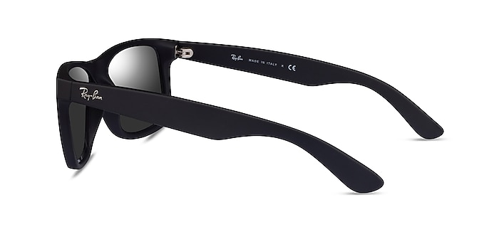 Ray-Ban Justin Matte Black Plastic Sunglass Frames from EyeBuyDirect