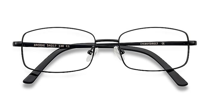 Noir Brodie -  Classique Métal Lunettes de vue