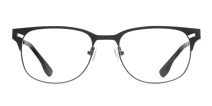 Merrion Black Metal Eyeglass Frames from EyeBuyDirect