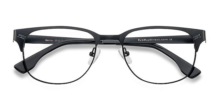 Black Merrion -  Metal Eyeglasses