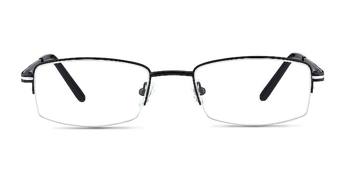Brian Black Metal Eyeglass Frames from EyeBuyDirect