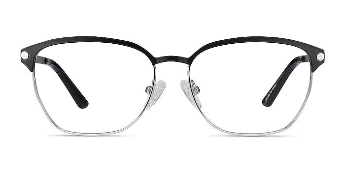 Berkeley Black Metal Eyeglass Frames from EyeBuyDirect