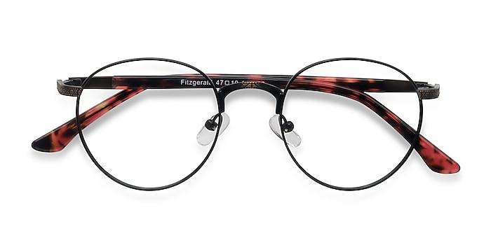 Matte Black and Tortoise Fitzgerald -  Classic Metal Eyeglasses