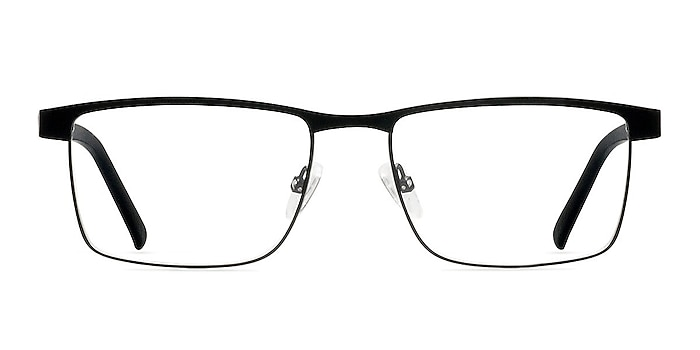Time Square Black Metal Eyeglass Frames from EyeBuyDirect