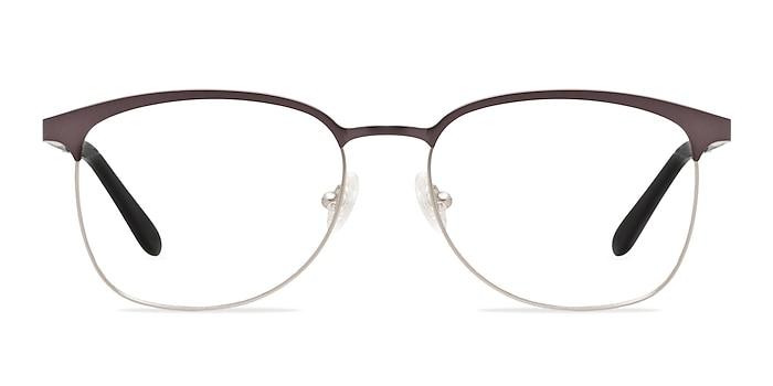 Dancer Gunmetal/Silver Metal Eyeglass Frames from EyeBuyDirect