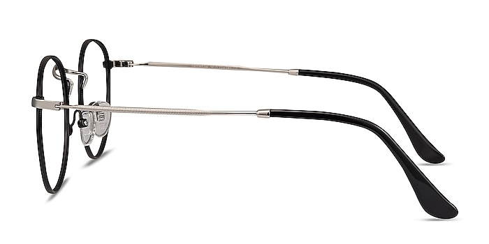 Daydream Black Silver Métal Montures de lunettes de vue d'EyeBuyDirect