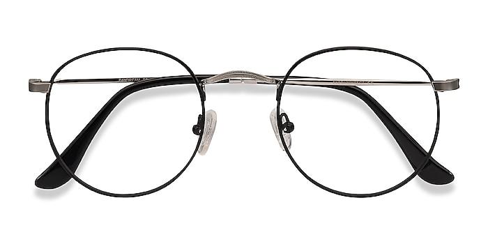 Black Silver Daydream -  Classique Métal Lunettes de vue