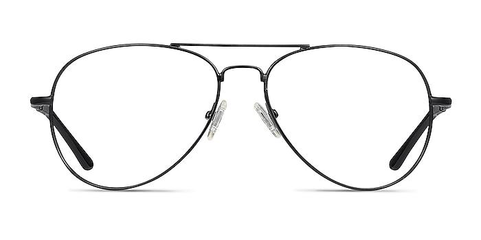Nantes Black Metal Eyeglass Frames from EyeBuyDirect