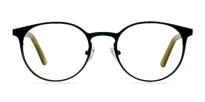 Outline Black Steel/Acetate Acetate-metal Eyeglass Frames from EyeBuyDirect