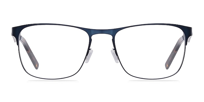 Bethnal Green Navy Metal Eyeglass Frames from EyeBuyDirect