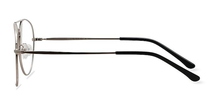 Nantes Silver Metal Eyeglass Frames from EyeBuyDirect
