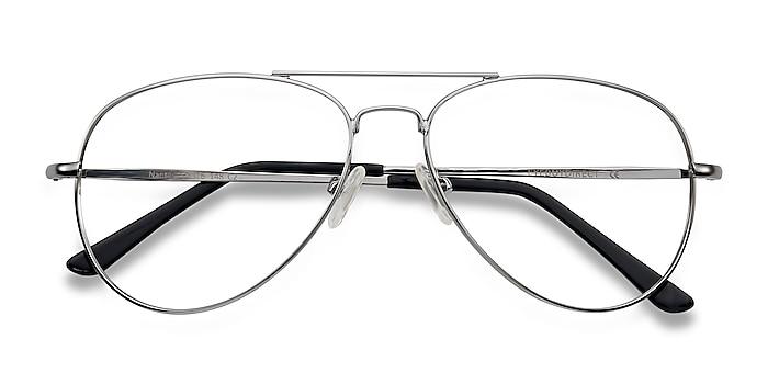 Silver Nantes -  Vintage Metal Eyeglasses