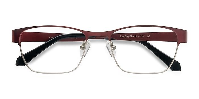 Matte Burgundy Admire -  Metal Eyeglasses