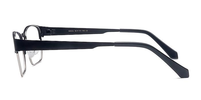 Admire Black Silver Métal Montures de lunettes de vue d'EyeBuyDirect