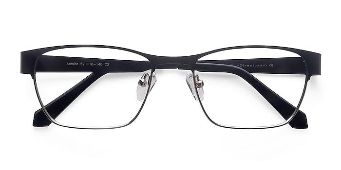 Black Silver Admire -  Métal Lunettes de vue