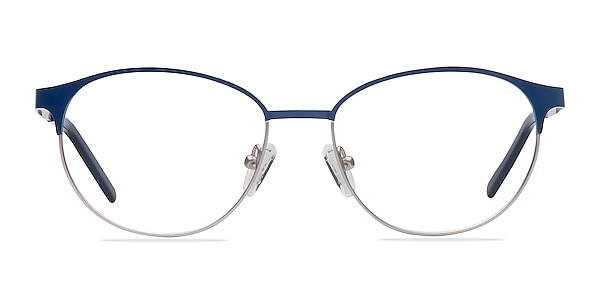 Mamba Navy Silver Métal Montures de lunettes de vue