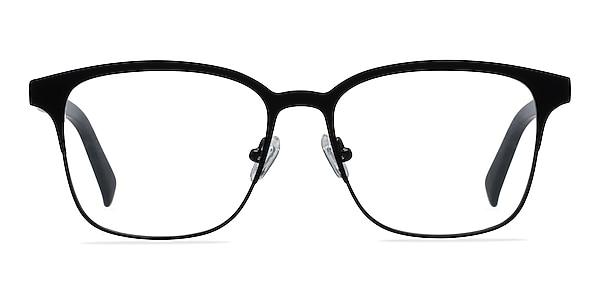 Intense Matte Black Acetate-metal Eyeglass Frames