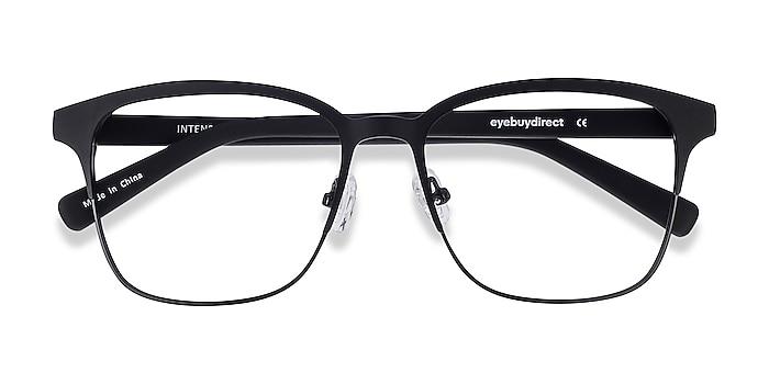 Matte Black Intense -  Geek Acetate, Metal Eyeglasses