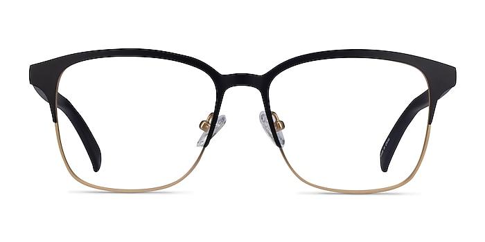 Intense Matte Black/Golden  Acetate-metal Eyeglass Frames from EyeBuyDirect