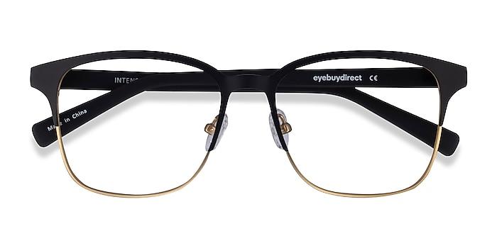 Matte Black/Golden  Intense -  Geek Acetate, Metal Eyeglasses