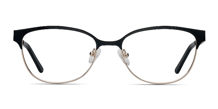 Sapphire Black Golden Metal Eyeglass Frames from EyeBuyDirect