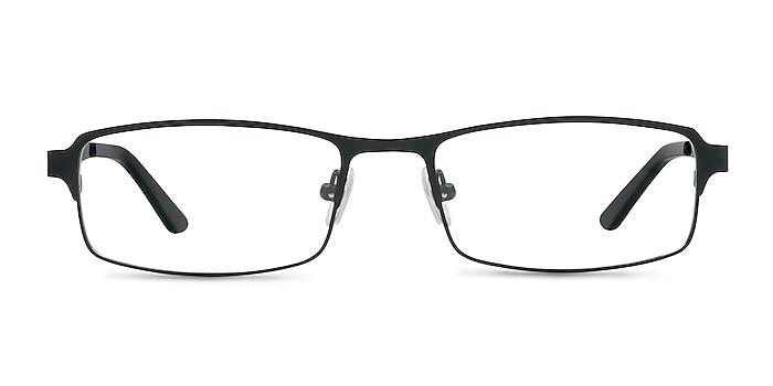 Thomas Matte Black Métal Montures de lunettes de vue d'EyeBuyDirect