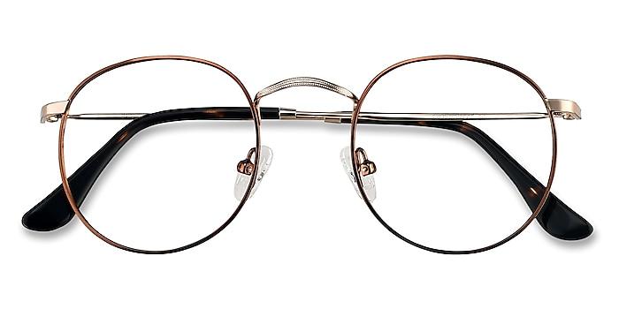 Brown Golden Daydream -  Vintage Metal Eyeglasses