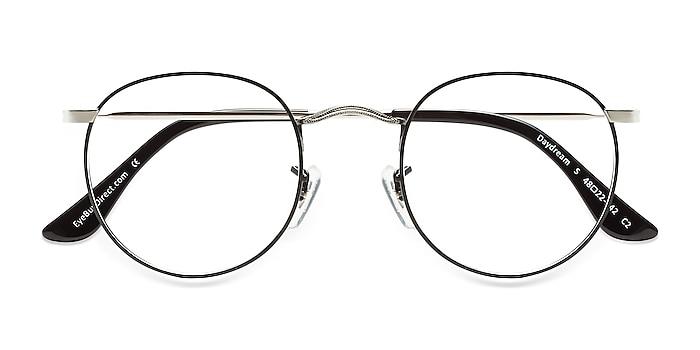 Black Silver Daydream -  Vintage Metal Eyeglasses