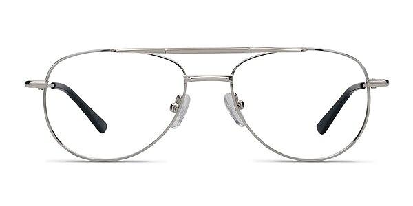 Tasker Silver Metal Eyeglass Frames