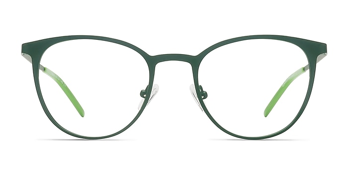 Reunion Matte Green Metal Eyeglass Frames from EyeBuyDirect