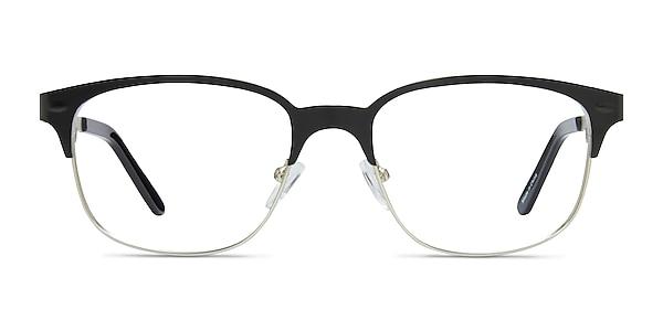 Baker Street Black Silver Metal Eyeglass Frames