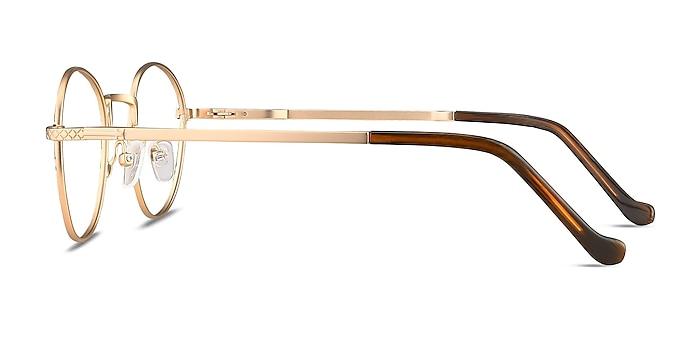 Mingus Black Golden Metal Eyeglass Frames from EyeBuyDirect