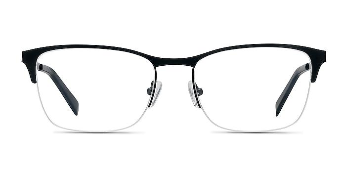 Time Black Metal Eyeglass Frames from EyeBuyDirect