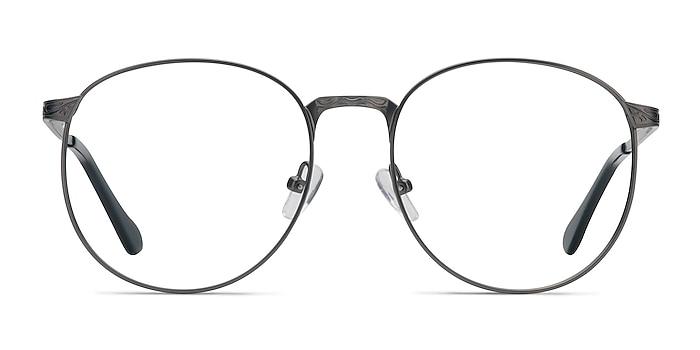 Lotus Gunmetal Metal Eyeglass Frames from EyeBuyDirect