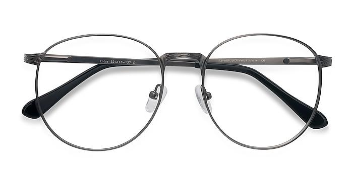 Gunmetal Lotus -  Vintage Metal Eyeglasses