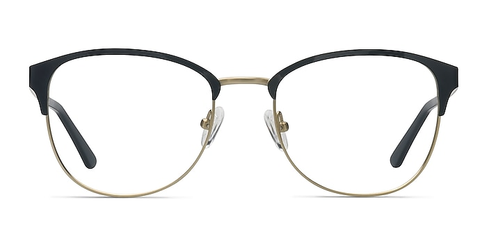 The Moon Black Golden Metal Eyeglass Frames from EyeBuyDirect