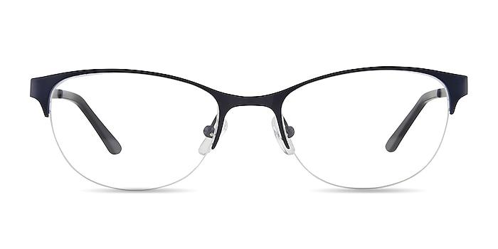 Melody Navy Metal Eyeglass Frames from EyeBuyDirect