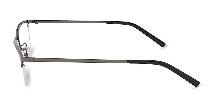 Vega Gunmetal Métal Montures de lunettes de vue d'EyeBuyDirect