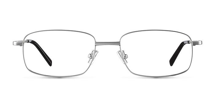 Bryce Silver Metal Eyeglass Frames from EyeBuyDirect