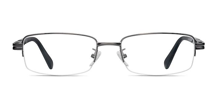 Above Gunmetal Metal Eyeglass Frames from EyeBuyDirect