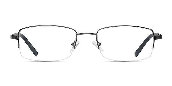 Hiro Gunmetal Metal Eyeglass Frames from EyeBuyDirect