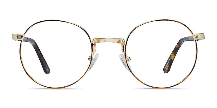 Basquiat Golden/Tortoise Métal Montures de lunettes de vue d'EyeBuyDirect