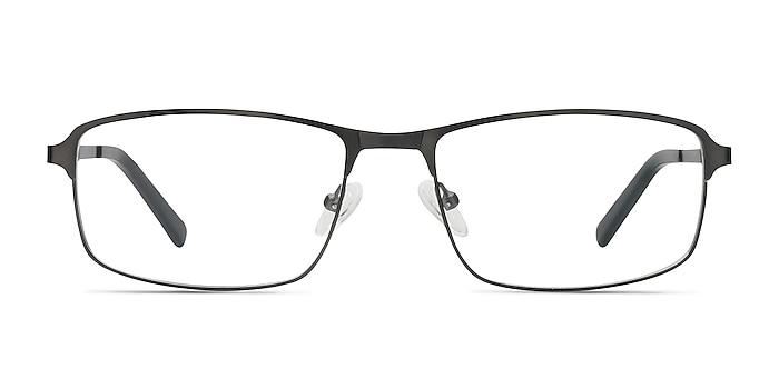 Capacious Matte Gunmetal Metal Eyeglass Frames from EyeBuyDirect